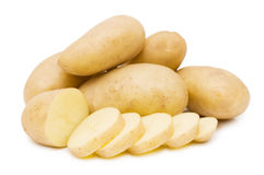 Fresh potato isolated over white Royalty Free Stock Photography