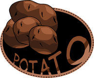 Fresh potato label Royalty Free Stock Images