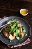Fresh potato salad with greens Stock Image