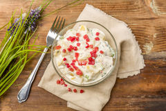 Fresh potato salad Royalty Free Stock Photography