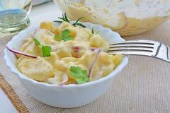 Fresh potato salad with mayonnaise Stock Photography