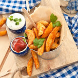 Fresh potato wedges Royalty Free Stock Image
