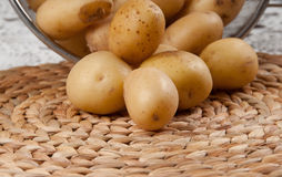 Fresh potatoes. In a basket Royalty Free Stock Image