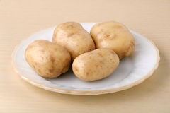 Fresh potatoes Stock Photos