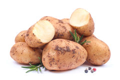 Fresh potatoes Royalty Free Stock Images