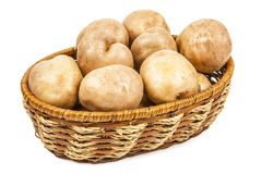 Fresh potatoes in a basket Royalty Free Stock Photography