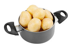 Fresh potatoes in cooking pot Royalty Free Stock Image
