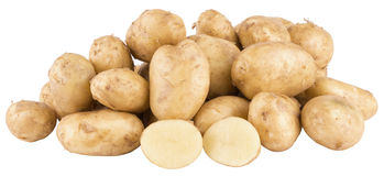 Fresh potatoes. On isolated background Stock Photography