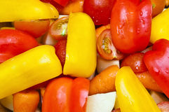Fresh potatoes, tomatoes, baby carrots and peppers Royalty Free Stock Photography