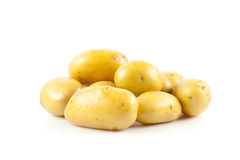 Fresh potatoes on a white Royalty Free Stock Image