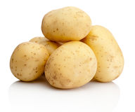 Fresh potatoes  on white background Royalty Free Stock Photo