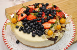 Fresh pound cake with berries Royalty Free Stock Photography
