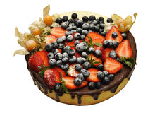 Fresh pound cake with berries Royalty Free Stock Image