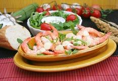 Fresh prawns Stock Image