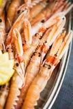 Fresh prawns Royalty Free Stock Photos
