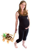 Fresh pregnant  woman Royalty Free Stock Photos
