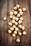 Fresh Prepared Chickpeas over rustic wooden table Stock Image