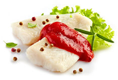 Fresh prepared fish fillet Stock Images