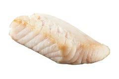 Fresh prepared pangasius fish fillet on white background. Fresh prepared pangasius fish fillet isolated on white background Stock Images