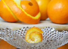 Fresh and preserved oranges Stock Photo