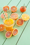 Fresh pressed blood orange juice Stock Images