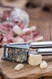 Fresh pressed Garlic Royalty Free Stock Photo