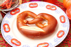 Fresh pretzel Stock Image