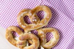 Fresh pretzels Stock Photos