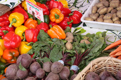 Fresh Produce. This is an image of fresh produce at an outdoor market Stock Photos