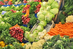 Fresh produce. On a stand for sale Royalty Free Stock Image