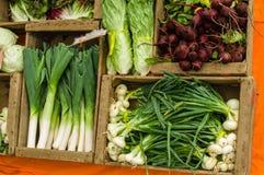 Fresh produce display at the market Royalty Free Stock Photography