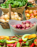 Fresh produce display at the market Royalty Free Stock Photo
