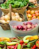 Fresh produce display at the market Royalty Free Stock Photo