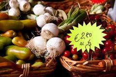 Fresh produce at a farmer's market Stock Image