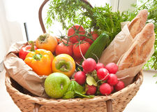 Fresh produce from the farmers market Royalty Free Stock Image