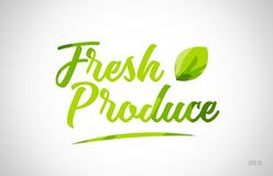 fresh produce green leaf word on white background stock photography