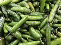 Fresh Produce green vegetable on sale royalty free stock image