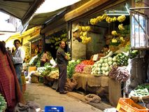 Fresh produce market in India Stock Photography