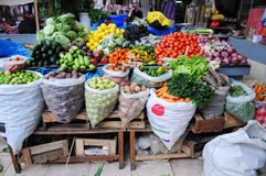 Fresh Produce Market in Peru Royalty Free Stock Photo
