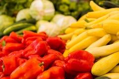 Fresh produce. Fresh organic produce on sale at the local farmers market Royalty Free Stock Photo
