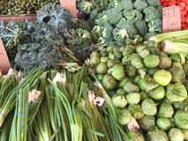 Fresh produce  for sale  at farmer market Stock Photos