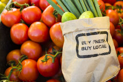 Fresh produce. On sale at the local farmers market Royalty Free Stock Photo