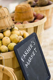 Fresh produce. On sale at the local farmers market Royalty Free Stock Photos