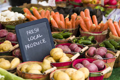 Fresh produce. On sale at the local farmers market Stock Image