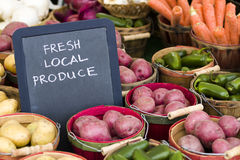 Fresh produce. On sale at the local farmers market Royalty Free Stock Photography