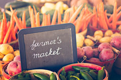 Fresh produce. On sale at the local farmers market Royalty Free Stock Images