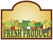 Fresh Produce Signage Illustration. Grocery Store Fresh Produce Colorful Vegetables Signage Illustration royalty free illustration