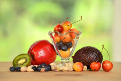 Fresh Produce on Table Stock Images