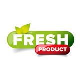 Fresh Product button vector. Green Stock Photo