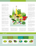 Fresh product flyer. Text page vector illustration